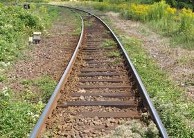 Railway tracks perspective photo