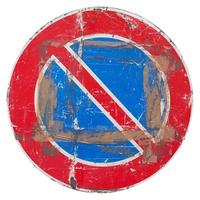 No parking sign isolated photo