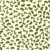 Seamless vector pattern of Small leaves, foliage suitable for print