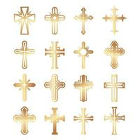 cristianos cruz religión vector símbolos jesús catolicismo