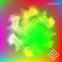 Abstract bright blurry shape,  snowflake and aurora. vector