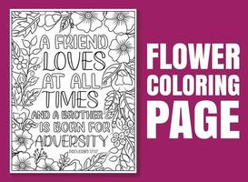 Bible Verse Coloring Pages, Christian religious typography vector