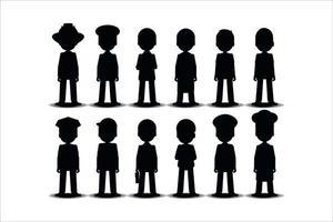 people silhouettes set vector eps 10