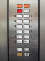detalle del teclado del ascensor foto