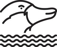 icono de línea para ornitorrinco vector