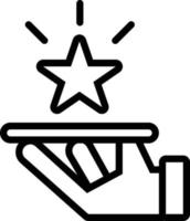 Line icon for premium service vector