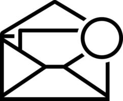 Line icon for inbox message vector