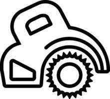 Line icon for circular saw vector