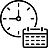 Line icon for time table vector