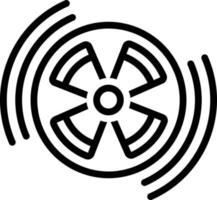 Line icon for radiation vector
