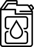 icono de línea para diesel vector