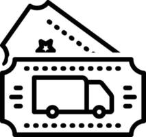 Line icon for transport ticket vector