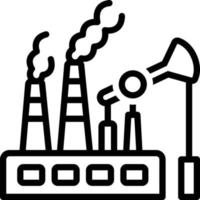 Line icon for fossil fuels vector