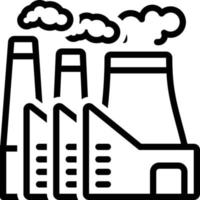 Line icon for power plant vector