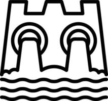 Line icon for hydro power vector
