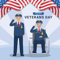 Old Army Celeberation Veterans Day vector