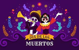 Celebration Day Of The Dead vector