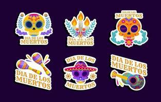 Dia De Los Muertos Sticker vector