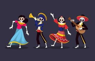 Skeleton Character Collection vector