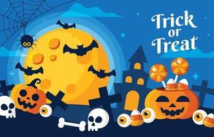 truco o trato concepto de halloween vector