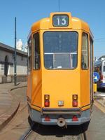 Vintage tram in Turin photo