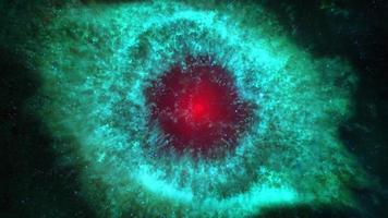 Zoom out from center of a galaxy video