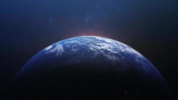 vanuit de ruimte inzoomen op de aarde video