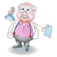 Male Scientist Character Cartoon Illustration vector