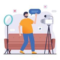 Online Broadcasting Streaming Concept vector