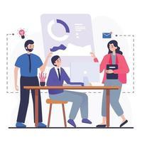 Business Teamwork Activities vector