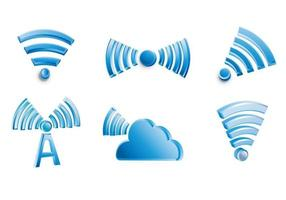 Icono de elemento 3d red wifi vector