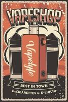 Retro Liquid and Vape Mod Poster Sign vector