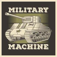 Retro Military Vehicle  Heavy Tank vector