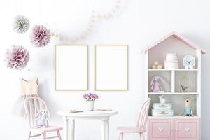 maqueta de marco para la habitación de una niña - 105 foto