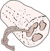 esponja de ducha de lufa natural ilustración luffa depurador de cuerpo loofa vector
