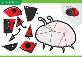 juego de rompecabezas de papel artesanal para niños pegar y cortar vector
