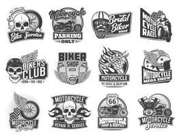 Motorcycle logo type vector