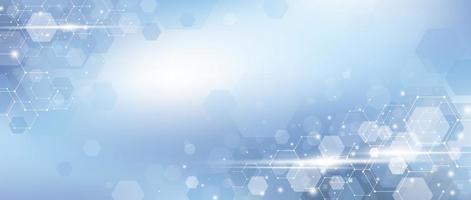 Medical concept design of abstract blue hexagon background vector