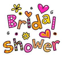 Bridal Shower Wedding Text Title Lettering vector