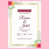 wedding invitation template 1 vector