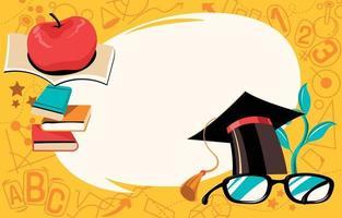 Happy Teachers Day Background Concept vector