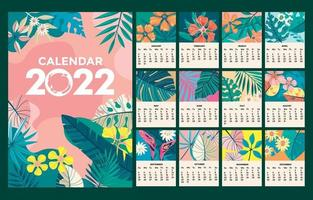 Beautiful 2022 Calendar with Nature Background vector