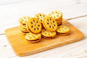 Biscuits with pineapple jam photo