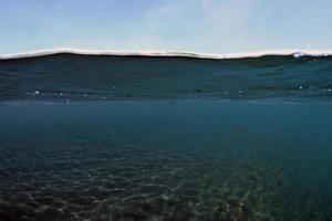 Half water background photo