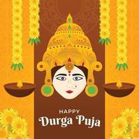 Happy Durga Puja Illustration vector