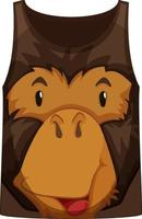 Tank top with face of monkey pattern vector