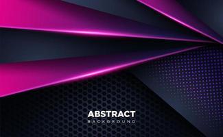 shiny dark black and purple shape overlap background technology vector