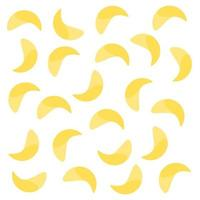 potato chips snack yellow pattern design vector