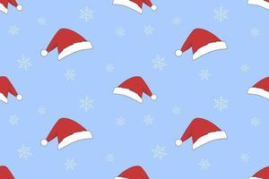 Santa Hat Christmas Seamless Pattern vector