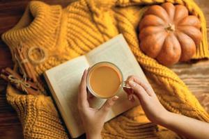 Delicious autumn coffee photo